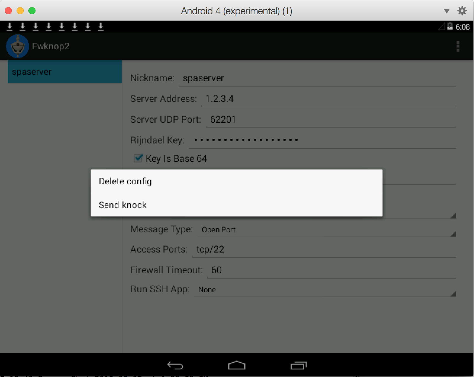 New Android Single Packet Authorization Client: Fwknop2
